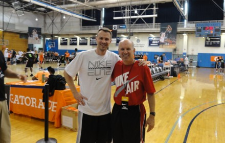 Nike Skills Academy Top College & HS Players, New Jersey, June 24, 2013. Coach Paul with Alan Stein, nationally Renowed Basketball Agility & Conditioning Coach