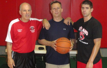 Coach Paul and CBS Trainer Robbie Haught with Doug Saylor at the Permiter Camp